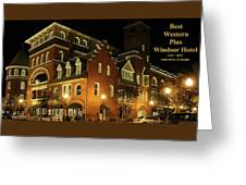 Best Western Plus Windsor Hotel - Christmas -2 Greeting Card