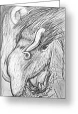 Bestia De Cuerno Espiralado. Greeting Card