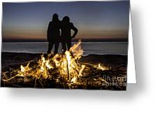 Besties At Sunset Greeting Card