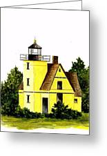 Bete Gris Lighthouse Greeting Card