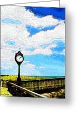 Bethany Beach Clock Greeting Card