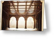 Bethesda Terrace In Color Greeting Card