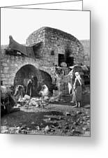 Bethlehem - Nativity Scene Year 1900 Greeting Card