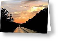 Bethlehem Road Sunset Greeting Card