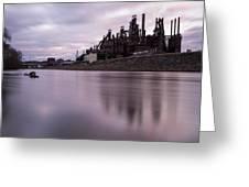Bethlehem Steel Sunset Greeting Card by Jennifer Ancker