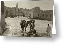 Bethlehem: Street, C1911 Greeting Card