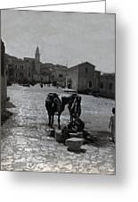 Bethlehem Street Scene 1911 Greeting Card