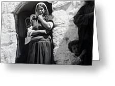 Bethlehemites Women 1900s Greeting Card