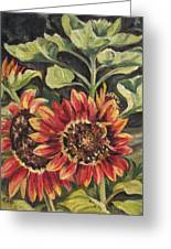 Betsy's Sunflowers Greeting Card