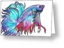 Betta Fish Greeting Card