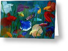 Bettas In Motion Greeting Card