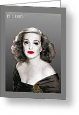 Bette Davis Draw Greeting Card