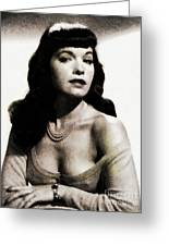 Bettie Page, Pinup Model Greeting Card