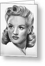 Betty Grable Greeting Card