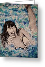 Betty Page Greeting Card