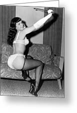 Betty Page Pin Up Girl 1950 Greeting Card