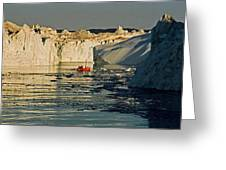 Between Icebergs - Greenland Greeting Card