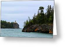 Between Rocks Panorama Greeting Card