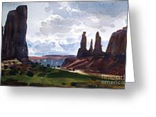 Between The Buttes Greeting Card