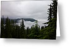 Between The Clouds Greeting Card