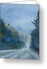 Between The Showers On Hwy 101 Greeting Card by Jenny Armitage