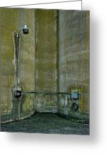 Between The Silos Greeting Card