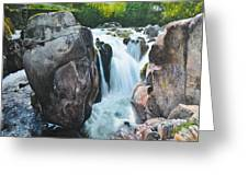 Betws-y-coed Waterfall In North Wales Greeting Card