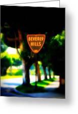 Beverly Hills Sign Greeting Card