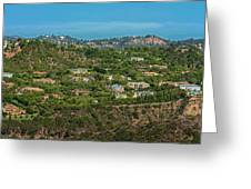 Beverly Park Beverly Hills Panorama Greeting Card