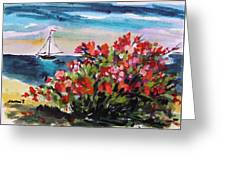Beyond Sea Roses Greeting Card