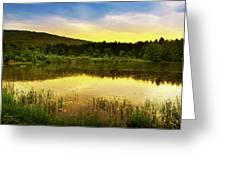 Beyond Sunset Landscape Greeting Card