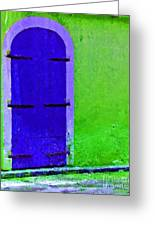 Beyond The Blue Door Greeting Card