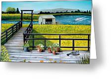 Beyond The Levee Greeting Card