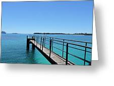 Beyond The Pier Greeting Card
