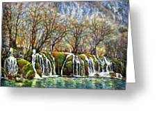 Beyond The Snowy Mountains Greeting Card