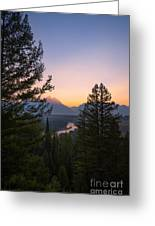 Beyond The Trees  Greeting Card