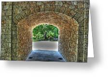 Beyond The Tunnel Greeting Card
