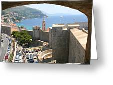 Beyond The Walls Of Old Dubrovnik Greeting Card