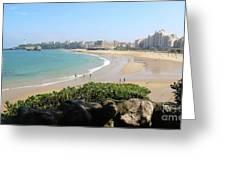 Biarritz Beach Panorama Greeting Card