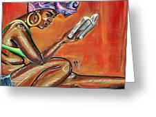 Bible Reading Greeting Card
