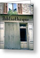 Bibliotheque Greeting Card