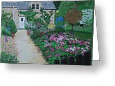 Bibury Garden Path Greeting Card