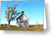 Bichet School In Autumn Greeting Card