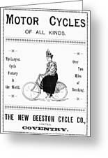 Bicycle, 1897 Greeting Card