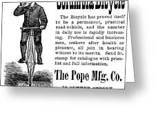 Bicycle Ad, 1880 Greeting Card