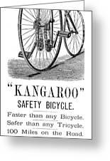 Bicycle Ad, 1885 Greeting Card