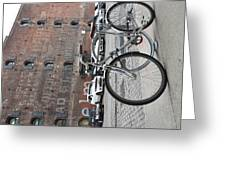 Bicycle And Building Greeting Card