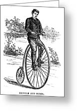 Bicycle, C1870s Greeting Card by Granger