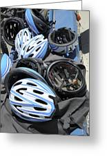Bicycle Helmets Greeting Card by Photostock-israel