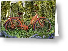 Bicycle In The Garden Greeting Card